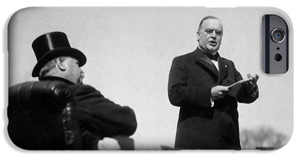 William Mckinley Making His Inaugural Address IPhone Case by War Is Hell Store