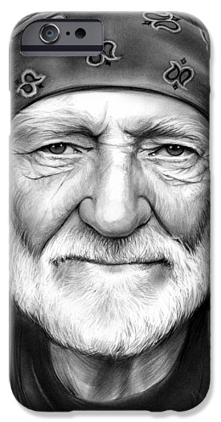 Willie Nelson IPhone Case by Greg Joens