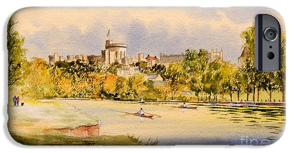 Windsor Castle And Thames IPhone Case by Bill Holkham