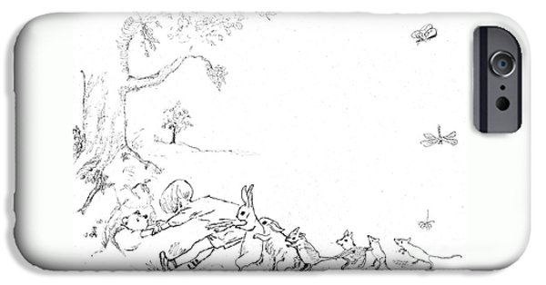 Winnie The Pooh And Crew In Pen  And Ink After E H Shepard IPhone 6s Case by Maria Hunt