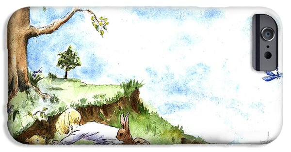 Helping Hands After E H Shepard IPhone Case by Maria Hunt