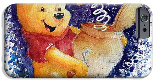 Winnie The Pooh And Honey Pot IPhone Case by Andrew Fling