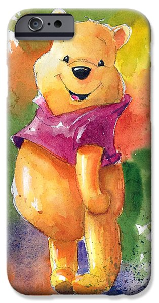 Winnie The Pooh IPhone Case by Andrew Fling