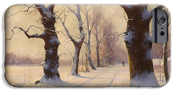 Winter Alley IPhone Case by Mountain Dreams