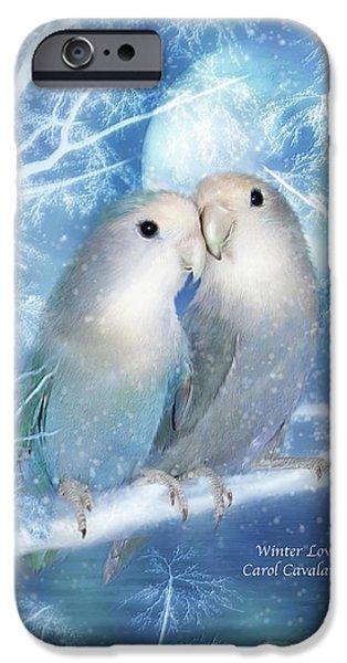 Winter Love IPhone Case by Carol Cavalaris