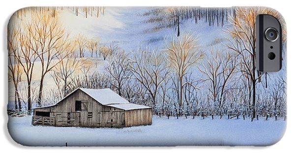 Winter Sunset IPhone Case by Michelle Wiarda