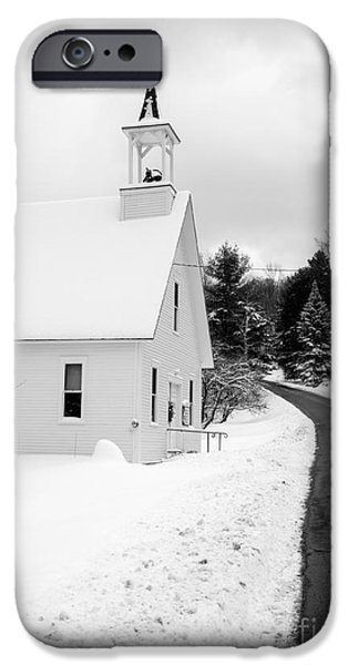 Winter Vermont Church IPhone Case by Edward Fielding