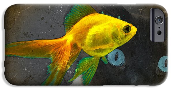 Wishful Thinking - Cat And Fish Art By Sharon Cummings IPhone 6s Case by Sharon Cummings