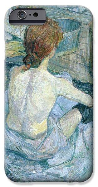 Woman At Her Toilet, 1896  IPhone Case by Henri de Toulouse-Lautrec