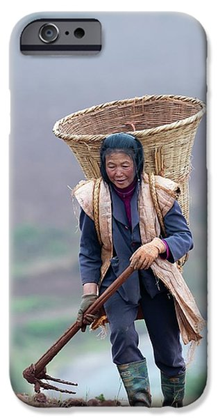 Woman Farm Worker Harvesting Potatoes IPhone 6s Case by Tony Camacho