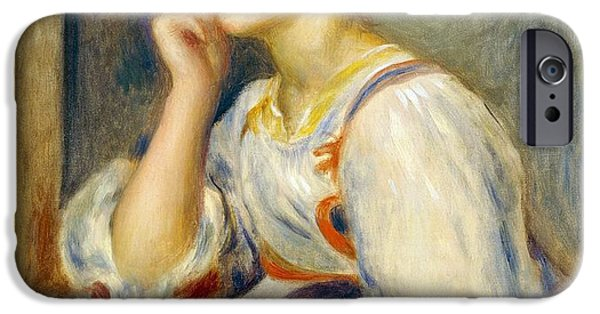 Woman With A Letter IPhone Case by Pierre-Auguste Renoir