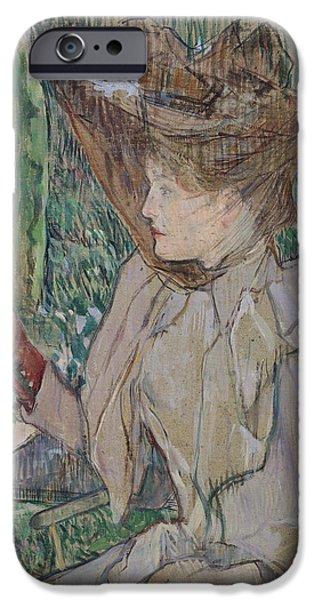 Woman With Gloves IPhone Case by Henri de Toulouse-Lautrec