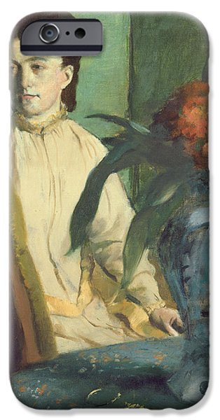 Woman With The Oriental Vase IPhone Case by Edgar Degas