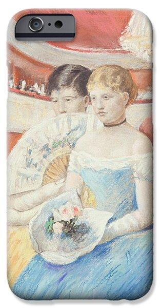 Women In A Loge IPhone Case by Mary Stevenson Cassatt