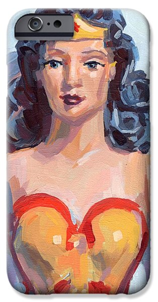 Wonder Woman IPhone Case by Kimberly Santini