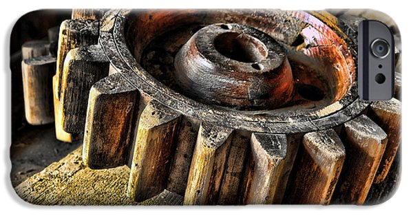 Wood Gears IPhone Case by Olivier Le Queinec