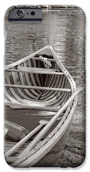 Wooden Canoe IPhone Case by Edward Fielding