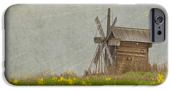 Old Wooden Windmill.  Kizhi Island.  Russia IPhone Case by Juli Scalzi