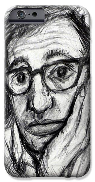 Woody Allen IPhone Case by Paul Sutcliffe