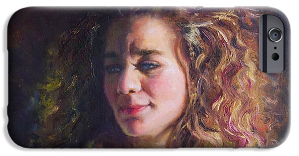 Work In Progress - Self Portrait IPhone Case by Talya Johnson