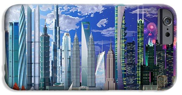 Worlds Tallest Buildings IPhone Case by Garry Walton