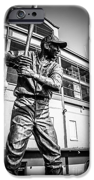 Wrigley Field Ernie Banks Statue In Black And White IPhone 6s Case by Paul Velgos