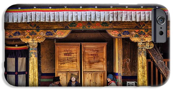 Yak Butter Tea Break At The Potala Palace IPhone 6s Case by Joan Carroll
