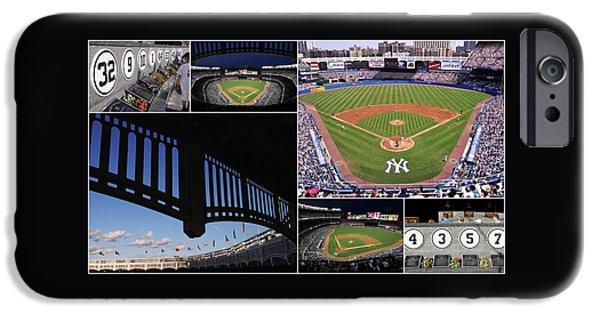 Yankee Stadium Collage 3 IPhone Case by Allen Beatty