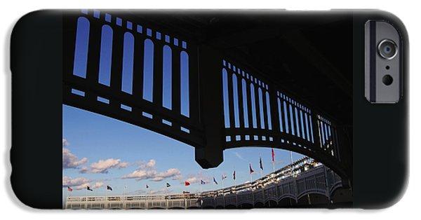 Yankee Stadium Facade IPhone Case by Allen Beatty