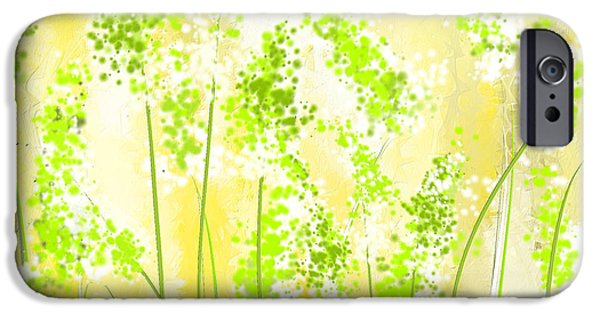 Yellow And Green Art IPhone 6s Case by Lourry Legarde