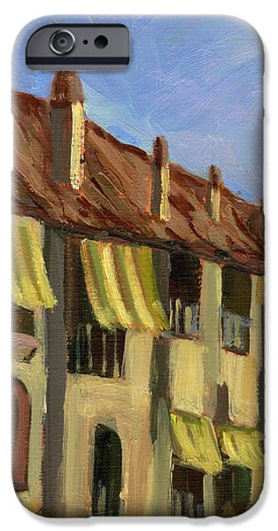 Yellow Shutters Costa Del Sol IPhone Case by Diane McClary