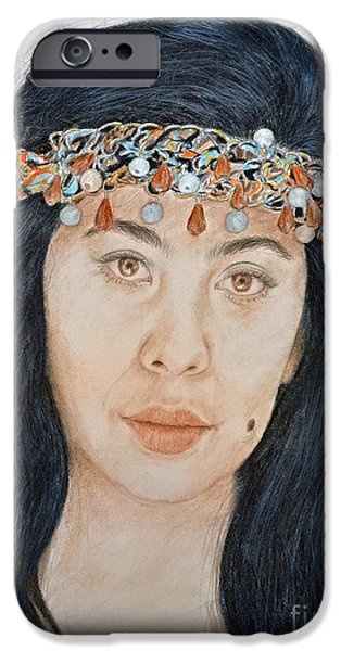 Young Filipina Beauty With A Mole Model Kaye Anne Toribio  II IPhone Case by Jim Fitzpatrick