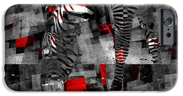 Zebra Art - 56a IPhone Case by Variance Collections