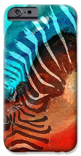 Zebra Love - Art By Sharon Cummings IPhone 6s Case by Sharon Cummings