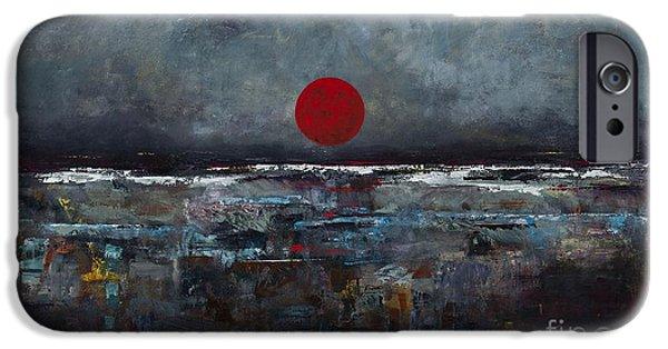 Zen Moon IPhone Case by Frances Marino
