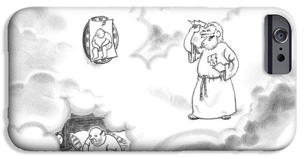 Zeus Plays Darts IPhone Case by Pat Byrnes