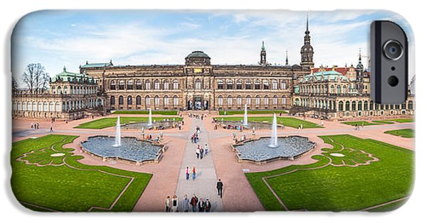 Zwinger Palace Designed By Matthaus IPhone Case by Panoramic Images