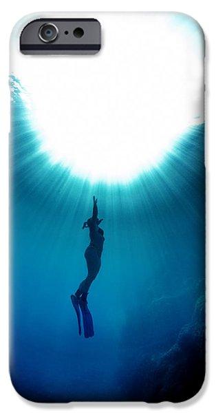 The Freediver IPhone Case by Rico Besserdich