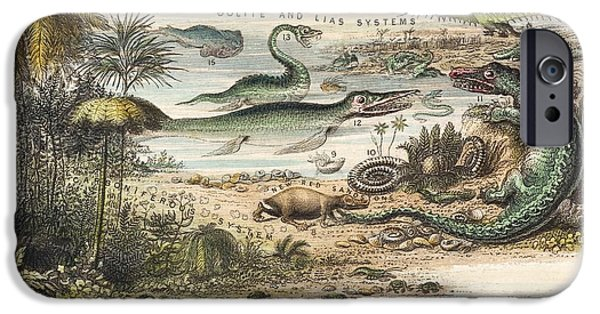 1849 The Antidiluvian World Crop Jurassic IPhone Case by Paul D Stewart