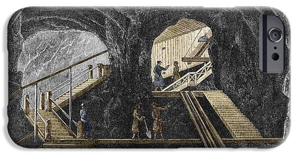 19th-century Mining IPhone Case by Sheila Terry