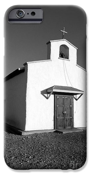 Calera Mission Chapel In West Texas Black And White IPhone 6s Case by Shawn O'Brien
