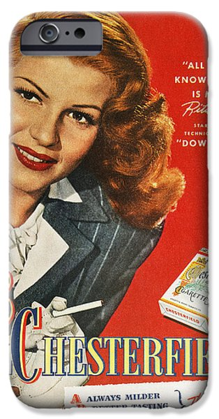 Chesterfield Cigarette Ad IPhone Case by Granger