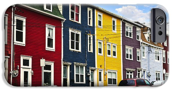 Colorful Houses In St. John's Newfoundland IPhone Case by Elena Elisseeva