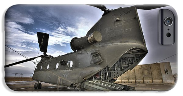 High Dynamic Range Image Of A Ch-47 IPhone Case by Terry Moore