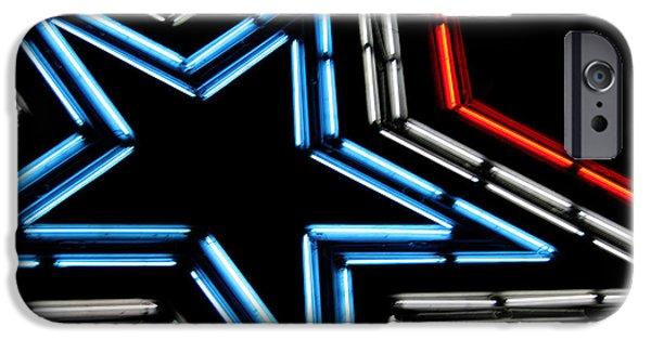 Neon Star IPhone Case by Darren Fisher