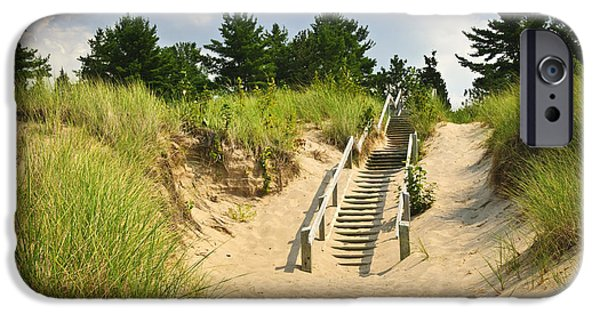 Wooden Stairs Over Dunes At Beach IPhone Case by Elena Elisseeva