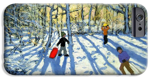 Woodland In Winter IPhone Case by Andrew Macara