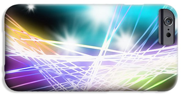 Abstract Of Stage Concert Lighting IPhone Case by Setsiri Silapasuwanchai
