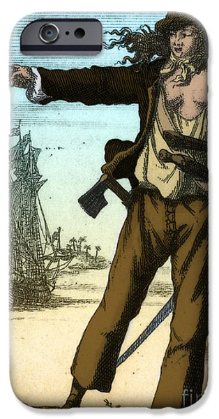 Anne Bonny, 18th Century Pirate IPhone Case by Photo Researchers