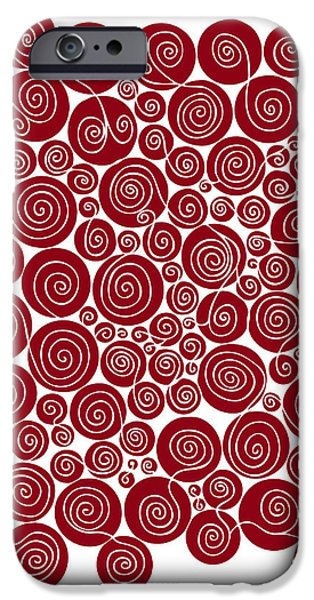 Red Abstract IPhone Case by Frank Tschakert